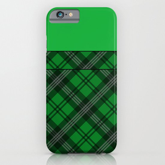 Scottish Plaid (Tartan) - Green iPhone & iPod Case