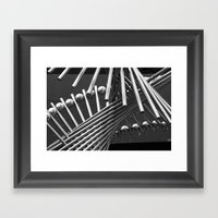 Iron Confusing Framed Art Print