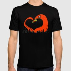 monster love Mens Fitted Tee Black SMALL