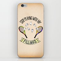 STOP PLAYING WITH MY FILLINGS (vintage) iPhone & iPod Skin