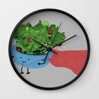 Super Salad Wall Clock