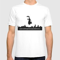 mary poppins Mens Fitted Tee White SMALL