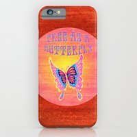 Free As A Butterfly Distressed iPhone 6 Slim Case