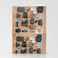 Cameras Organized Neatly Stationery Cards