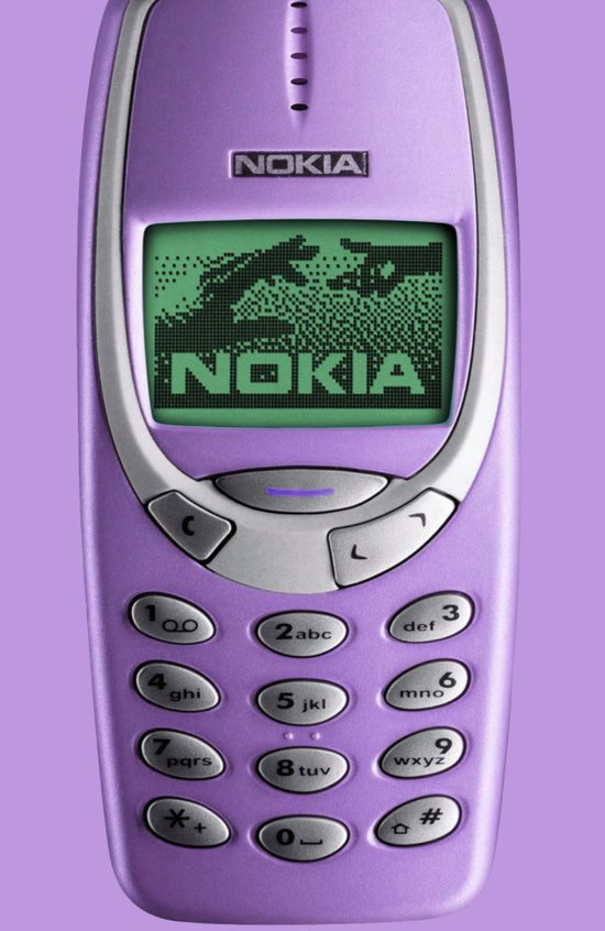 OLD NOKIA Purple Art Print