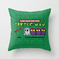 Hero in a Pac-Shell (Raph) Throw Pillow