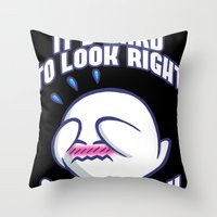 Mario: It's Hard To Look… Throw Pillow