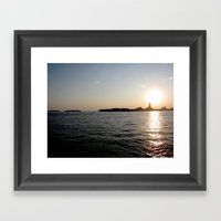 sunset - venice Framed Art Print