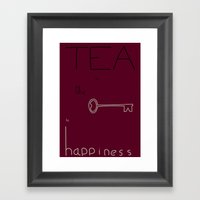 Tea Is The Key To Happin… Framed Art Print