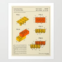 BUILDING BRICKS (1961) Art Print