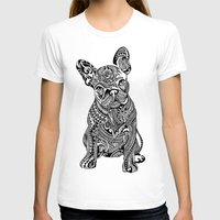 Polynesian  Frenchie Womens Fitted Tee White SMALL