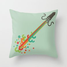 Kraken time Throw Pillow