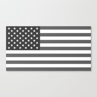 American flag - Gray scale version Canvas Print