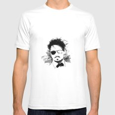 Johnny  Mens Fitted Tee White SMALL