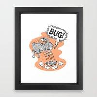 BUG! Framed Art Print