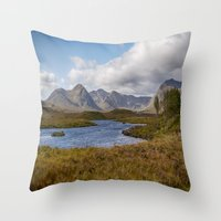 Lochan na h-Achlaise Throw Pillow