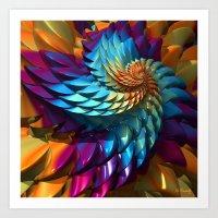 Dragon Skin Art Print
