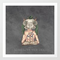 Long Live The Dead - Owl Art Print