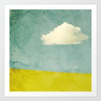 One Cloud Art Print