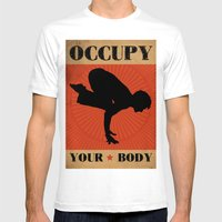 Occupy Your Body Mens Fitted Tee White SMALL