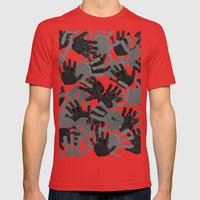 evidence v2: nite camo Mens Fitted Tee Red SMALL