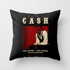 Cash Live at Folsom Prison Throw Pillow