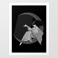 Crescent Melody Art Print