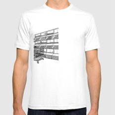 Surveillance White Mens Fitted Tee SMALL