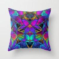 Floral Fractal Art G308 Throw Pillow