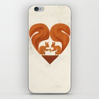 Love Heart Squirrels iPhone & iPod Skin