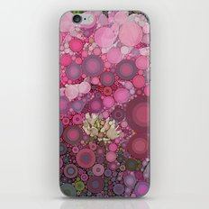 Pink Flowers at Twilight Abstract iPhone & iPod Skin