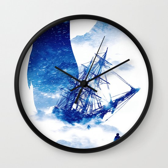 Abandon Ship Wall Clock