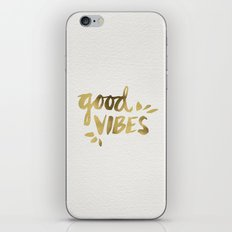 Good Vibes – Gold Ink iPhone & iPod Skin