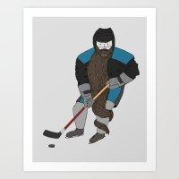 Playoff beard Art Print