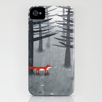 iPhone 4s & iPhone 4 Cases featuring The Fox and the Forest by squirrell