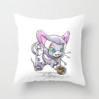 Luxurious Pounce Throw Pillow