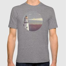 Sea Of Light Mens Fitted Tee Tri-Grey SMALL