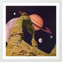 Space Rock II Art Print