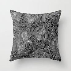 Inverse Contours Throw Pillow