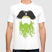 Davy Jones Mens Fitted Tee White SMALL
