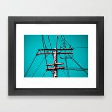 Electric Avenue Framed Art Print