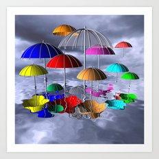 I like umbrellas Art Print