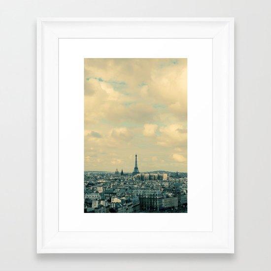 Paris In Blue Framed Art Print