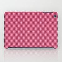 Dark Pink Spotty Pattern iPad Case