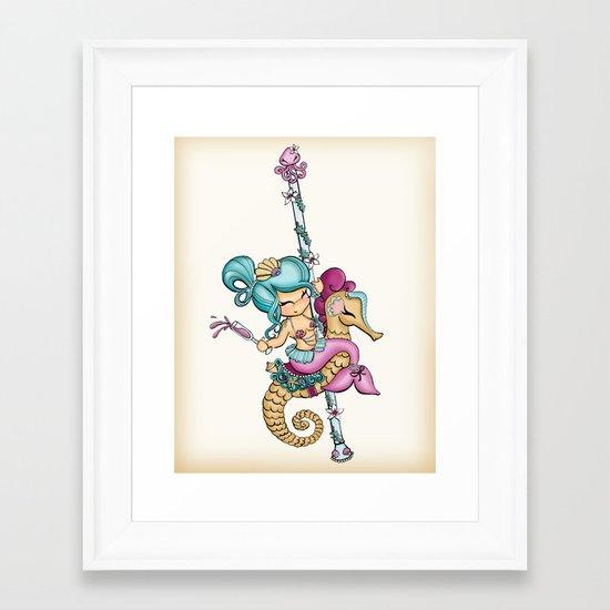 Saucy Sea Horse Framed Art Print