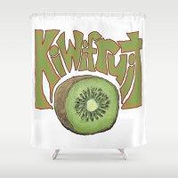 Kiwifruit. Shower Curtain