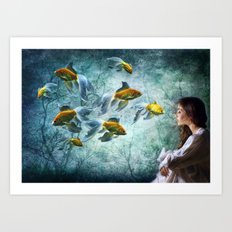 Ocean Deep Dreaming Art Print