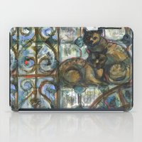 Cats in the patio. iPad Case