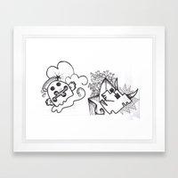 Crazzy I Framed Art Print