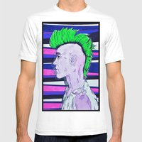 Neon Rock God Mens Fitted Tee White SMALL